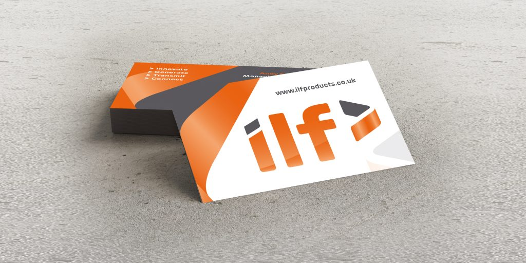 ILF Ltd - Manufacturers of precision copper busbars and metal components. Business Cards.